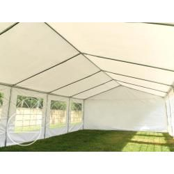 Photo of 5×10 m party tent, PVC tarpaulin 500 g / m², blue and white garden tent, marquee, pavilion Toolport