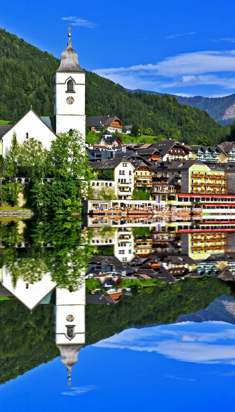 vacances autriche The beautiful St. Wolfgang in Lake district near Salzburg, Austria Voyage  Autriche, Conseil