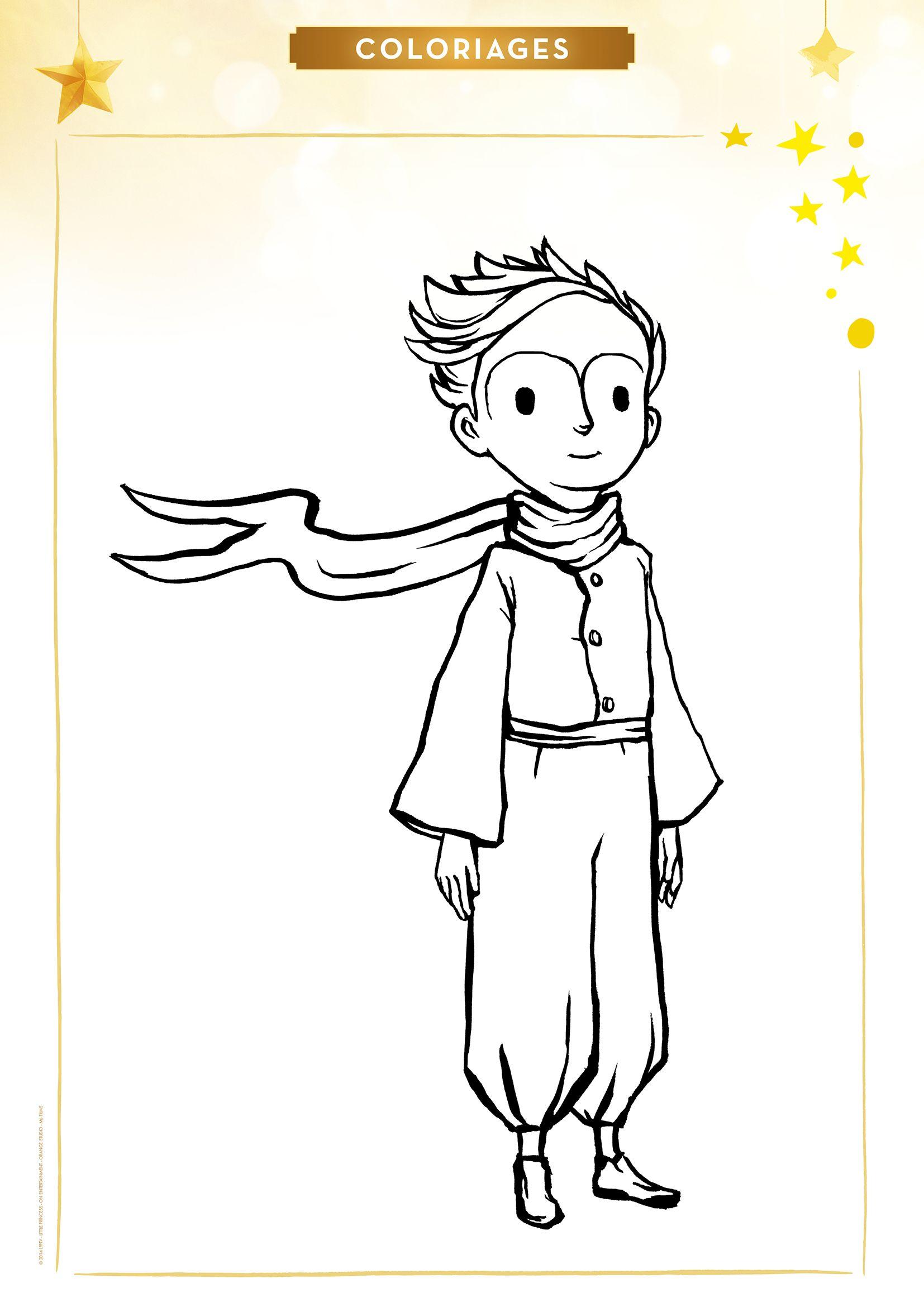 Coloriage le petit prince in 2019 le petit prince le - Coloriage petit renard ...