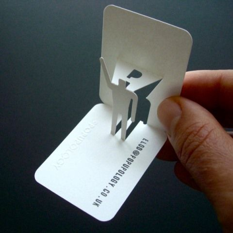 Pop up business cards ~ PAPERMAN