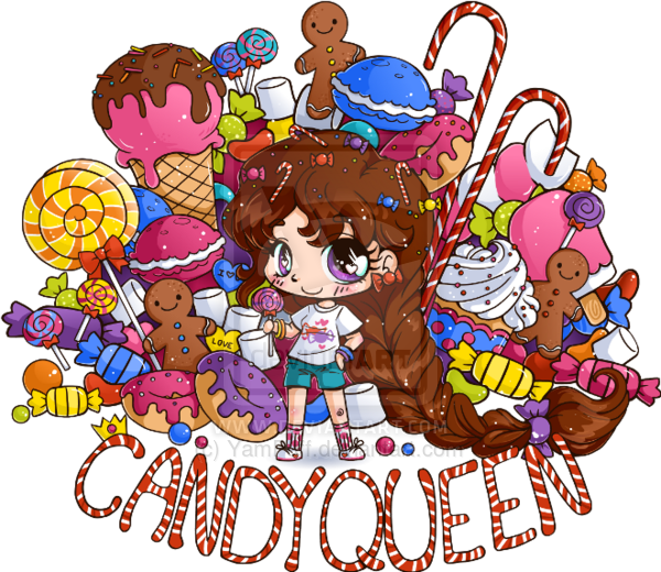 Candy Queen Chibi Commission Chibi Candy Drawing Cute Girl Drawing