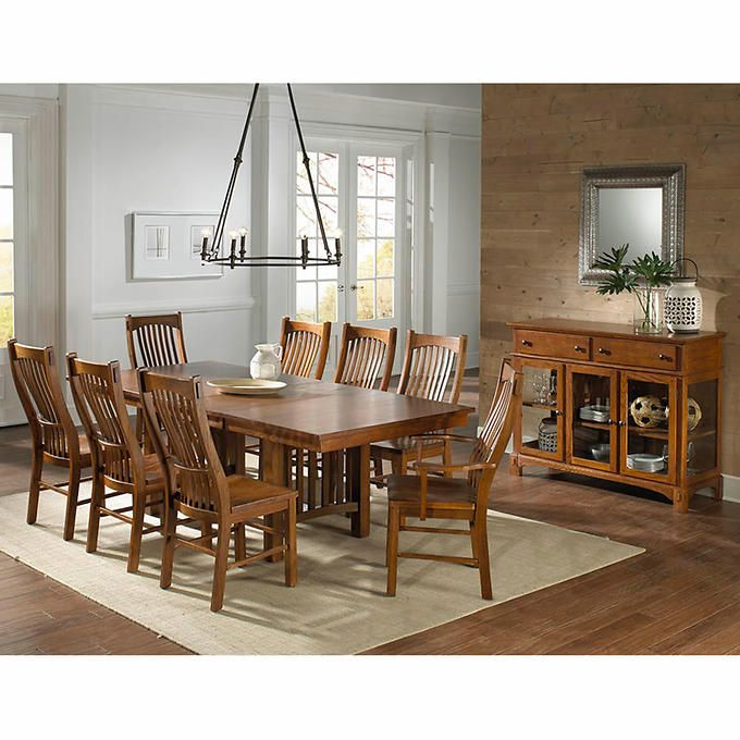 Santeelah 10 Piece Dining Set Dinning Room Tables Dining Set Counter Height Dining Sets