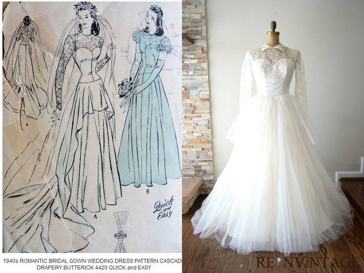 Vintage 1940 S Wedding Dresses