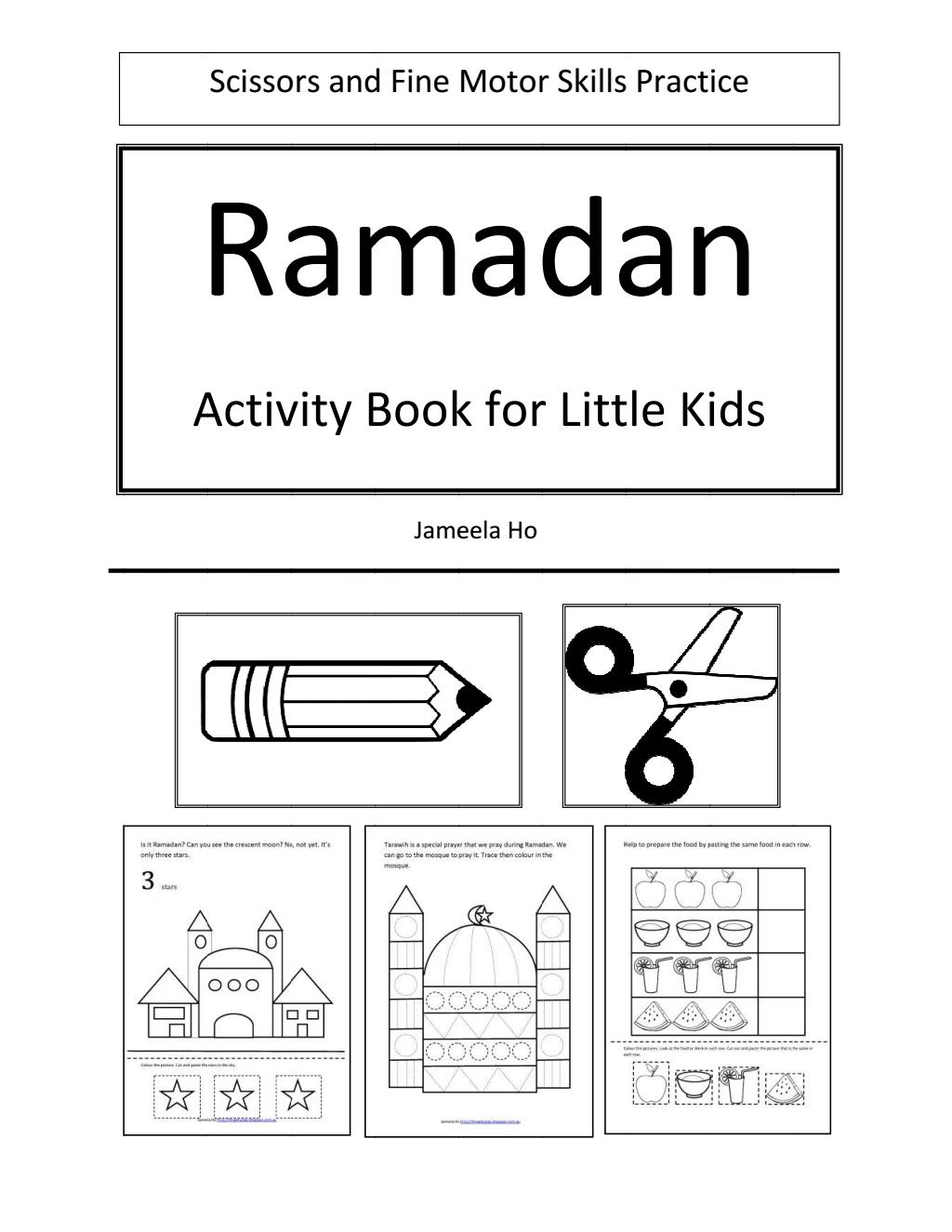 Ramadan Activity Book For Little Kids
