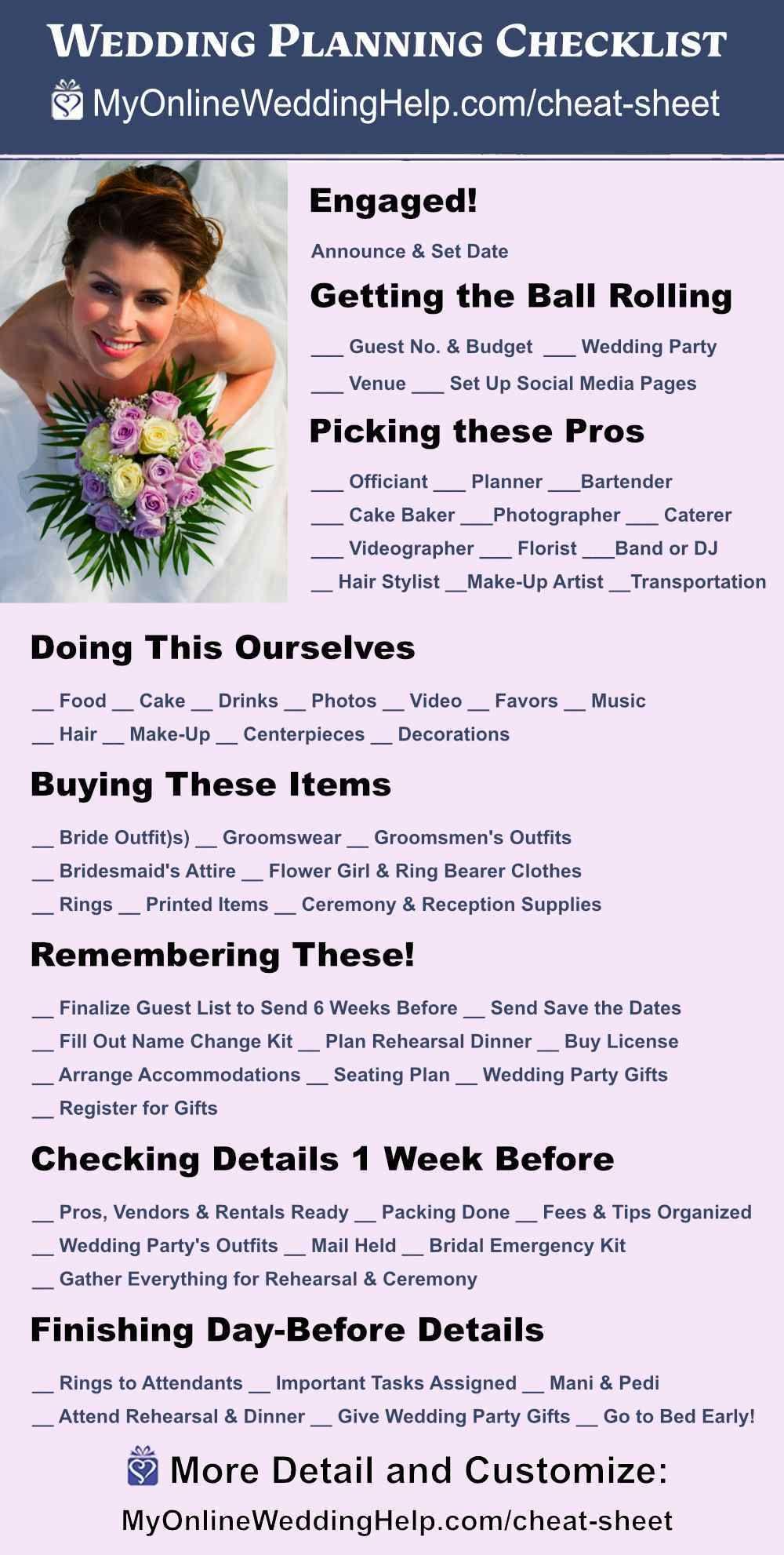 7 Step Wedding Guide Checklist And Printable Cheat Sheet Wedding Planning Checklist Wedding Planning Checklist Free Printable Wedding Planning Checklist Printable