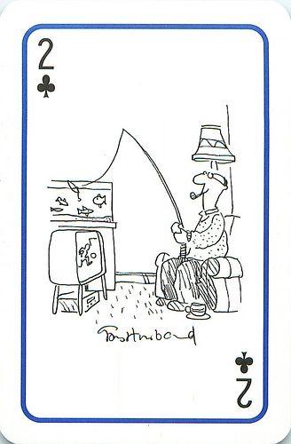Platnik Fishing Cartoon Playing Cards Fishing Jokes Fishing