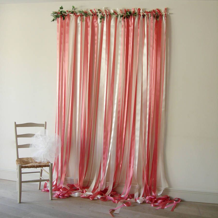 Ribbon Curtain Wedding Backdrop Krystle Pink By Just Add A Dress