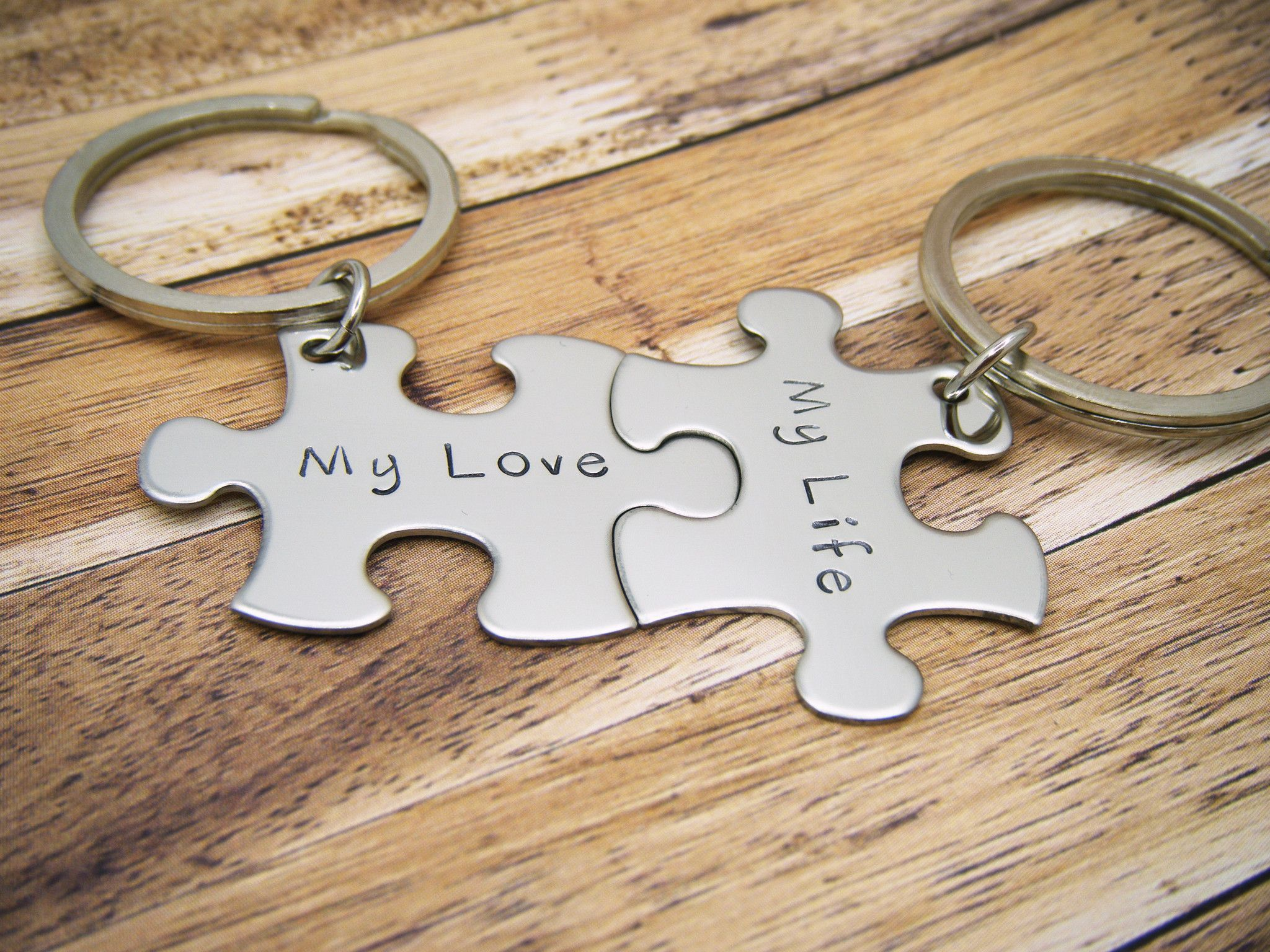 My love my life couples keychains anniversary gift couples gift