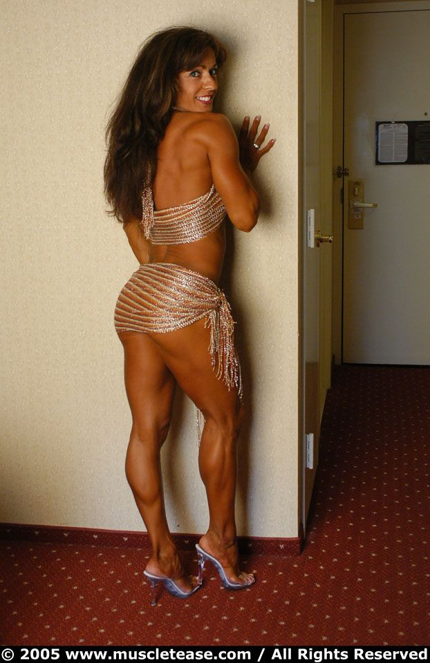 Muscle and sexy mature woman