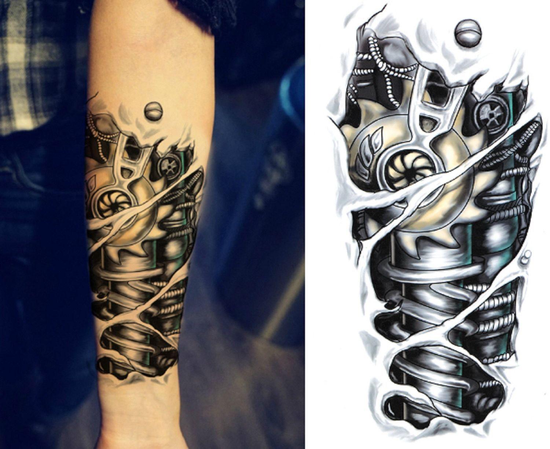 Jaxx Bionic Robot Temporary Tattoo Temporary Tattoo Sleeves Sleeve Tattoos Tattoos