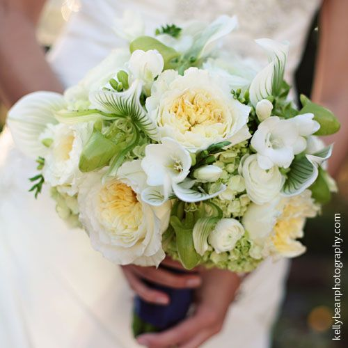 find this pin and more on wedding flowers elegant bridal bouquet arranged with ivory english garden roses
