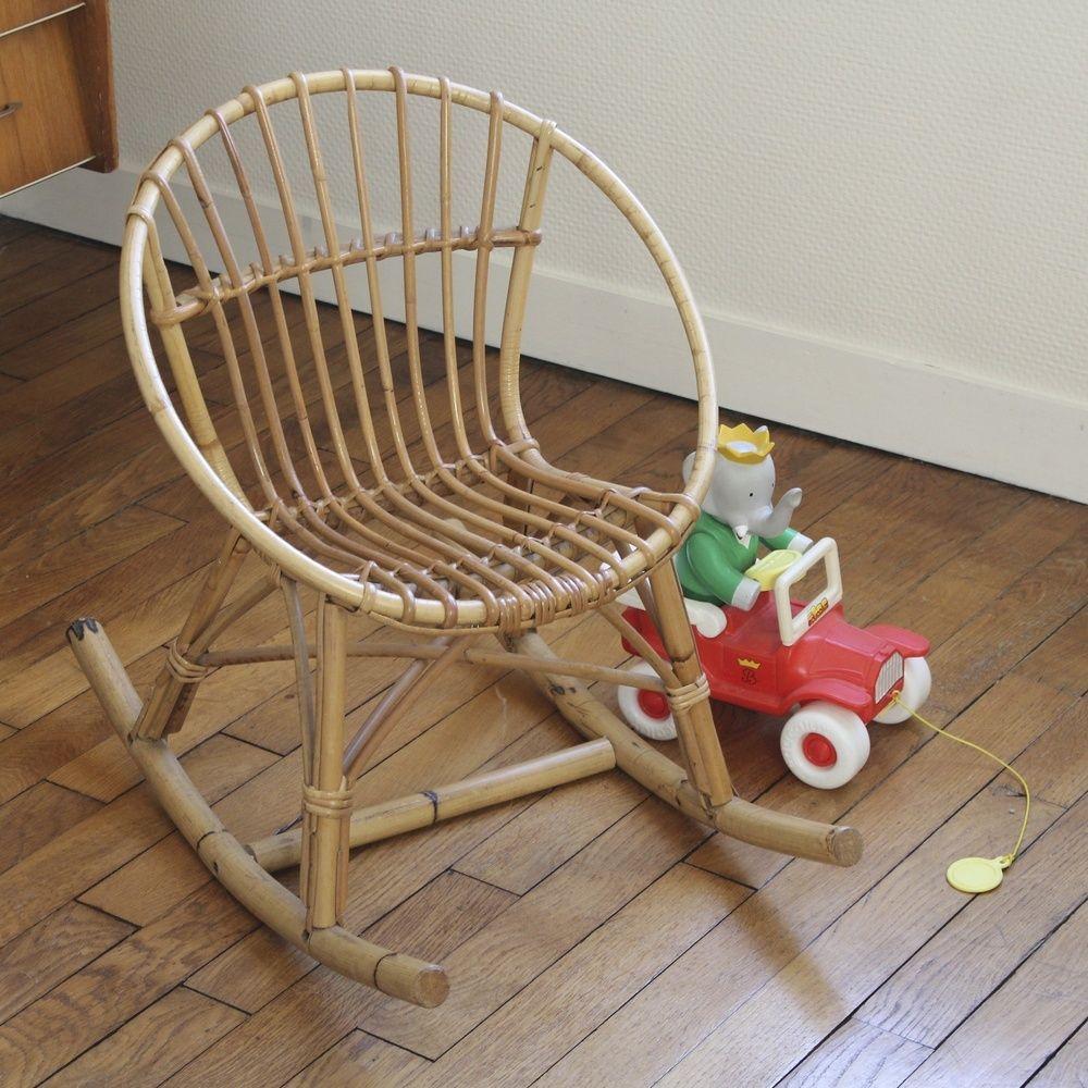 vintage child wicker rocking chair - Wicker Rocking Chair