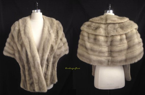 beautiful sapphire vintage mink stole, only at moxiefurs.com *SOLD*
