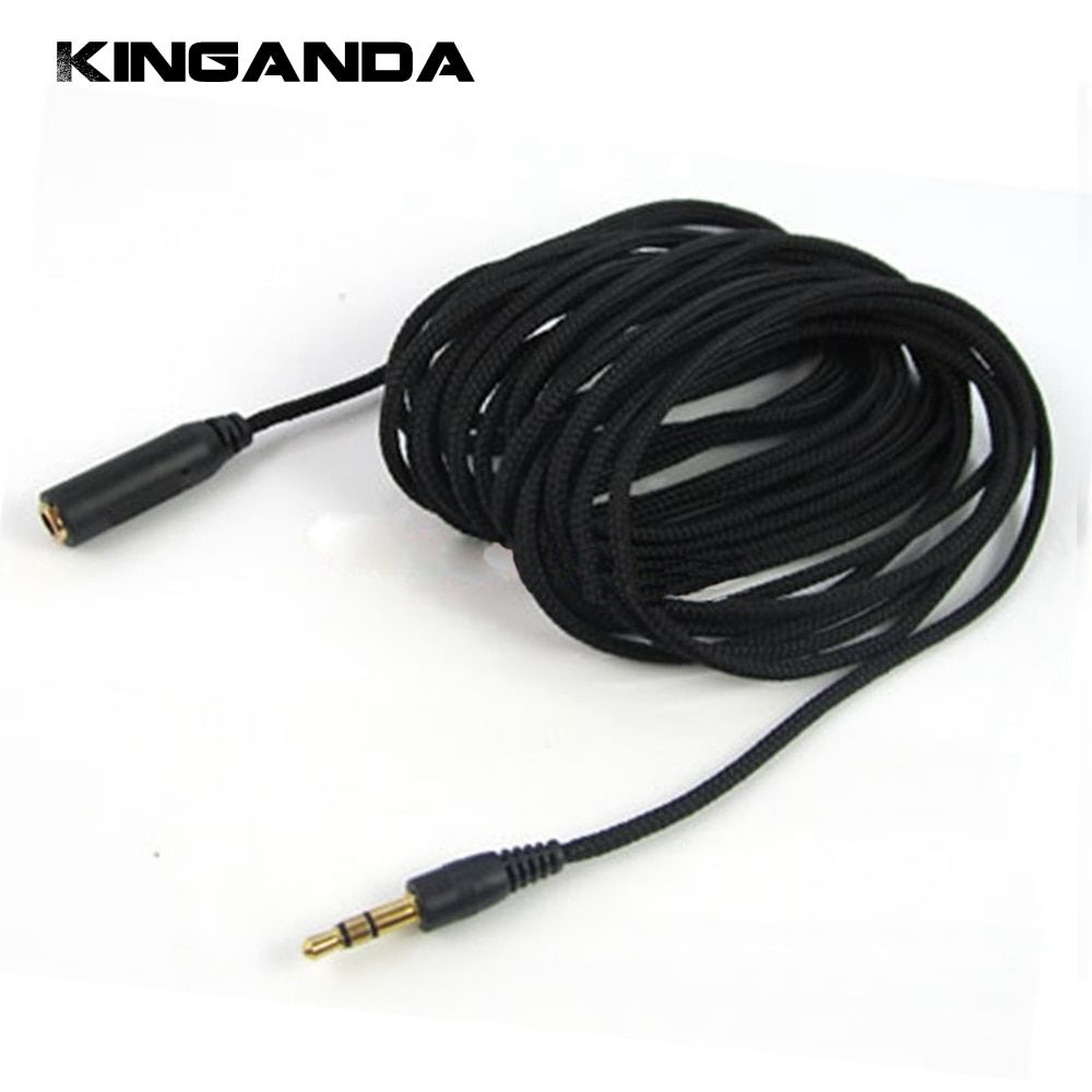 5m 16ft Headphone Extension Cable 3 5mm Jack Male To Female Aux Cable M F Audio Stereo Extender Cord Earphone 3 5 Mm Cloth C Extension Cable Earphone Headphone
