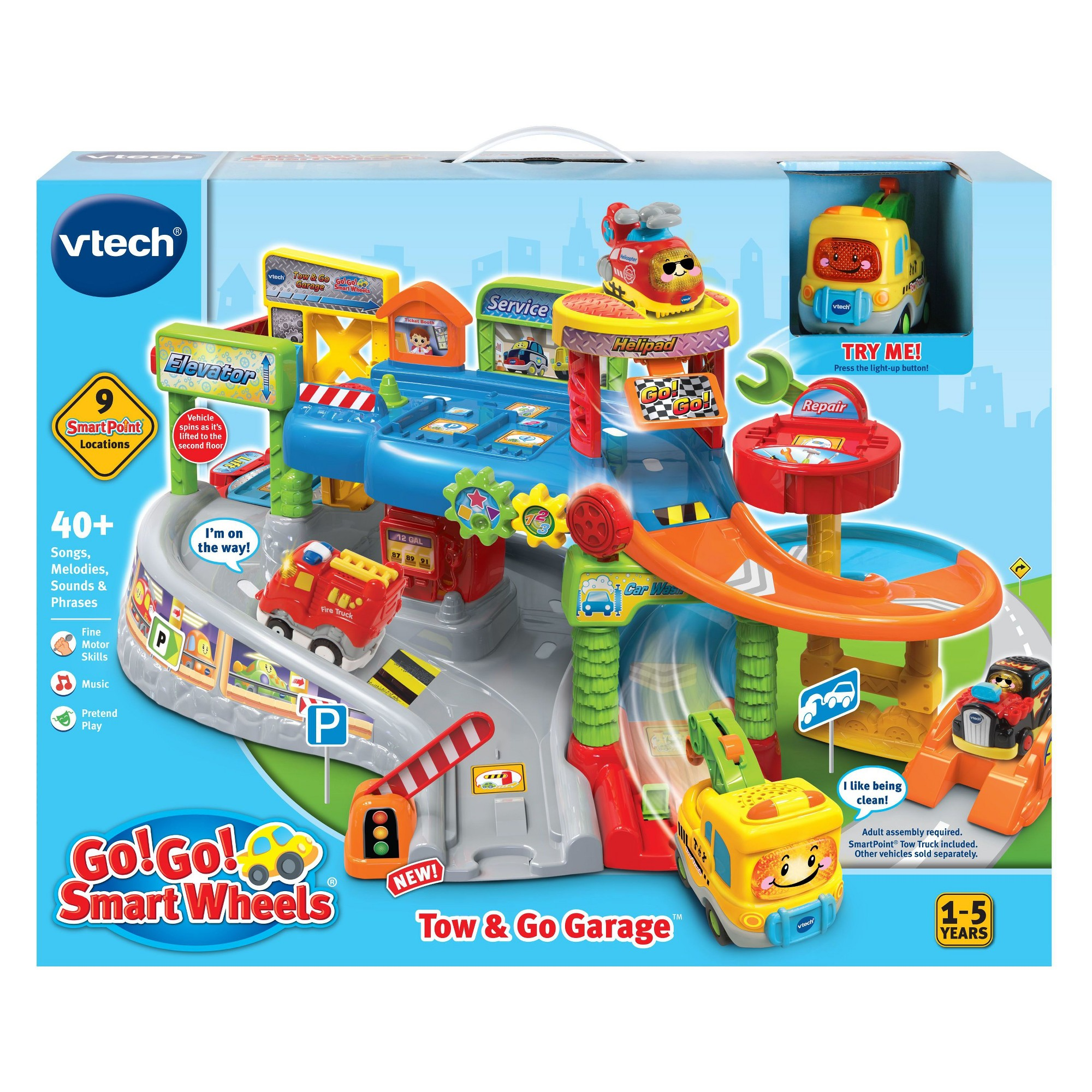 Vtech Go Go Smart Wheels Tow Go Garage Garage Vtech Towing