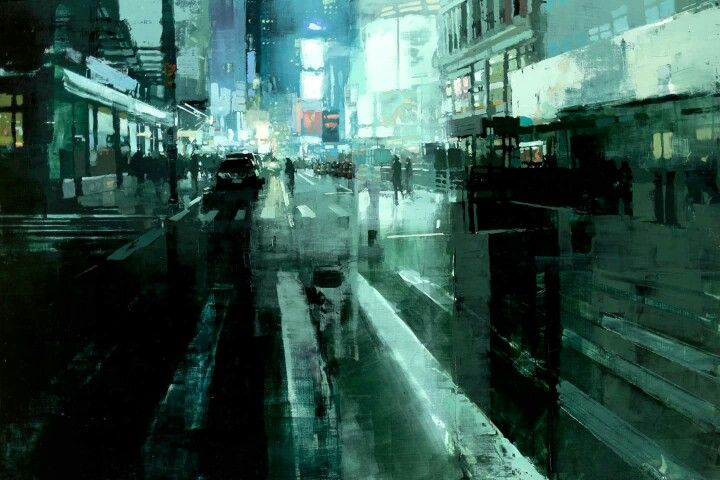 """""""Approaching Times Square"""" by Jeremy Mann"""