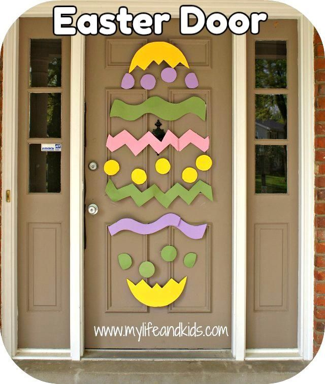 This would be so cute and super simple for a spring door display ...