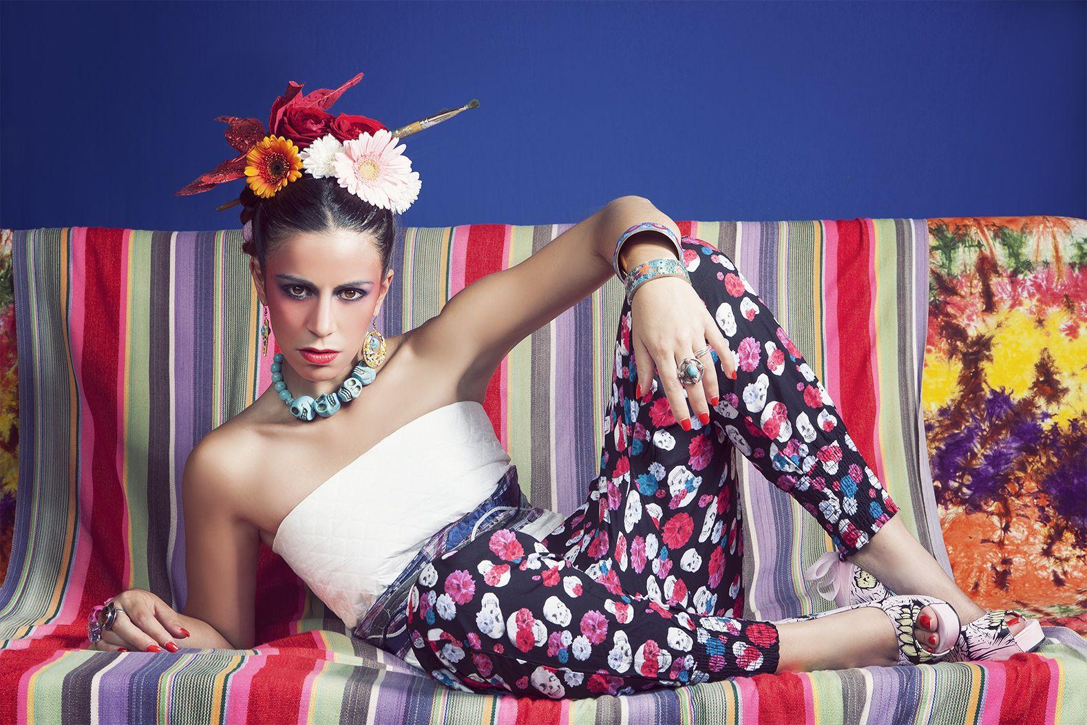 Frida Kahlo fashion photoshoot