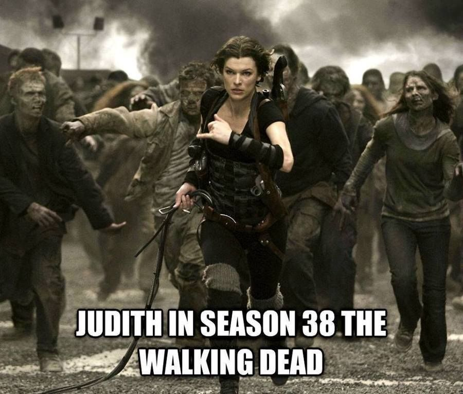images of an older Judith Grimes in the Walking Dead comics | Los ...