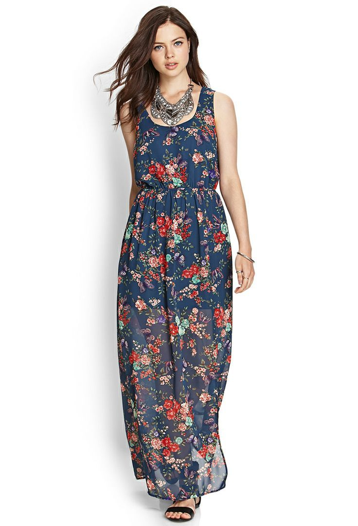 Buy the cheapest fashion @ www.kpopcity.net!! Floral Tied Maxi Dress | FOREVER21 #F21Contemporary #MaxiDress #Floral
