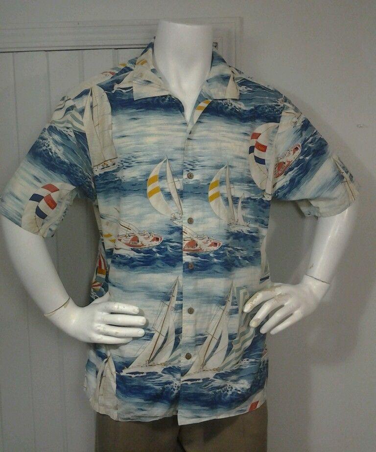 9b86bdf5 Polo Ralph Lauren Sail Boat Short Sleeve button up Hawaiian shirt Size XL  #PolobyRalphLauren #ButtonFront