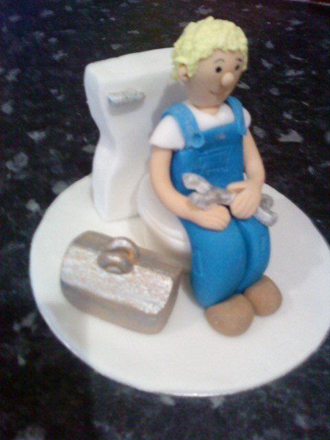 Plumber Bespoke Handmade Icing Model Ideal Cake Topper Decoration