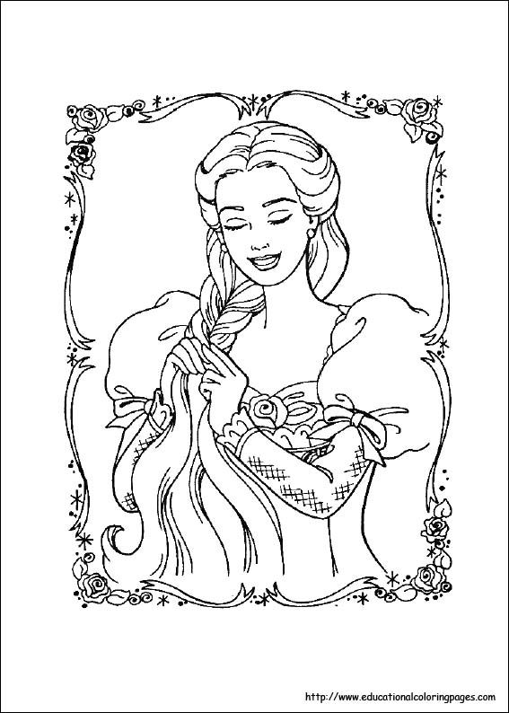 Enhance The Creativity Of Your Kids With Amazing Barbie Princess Coloring Pages Available For Free At Educational
