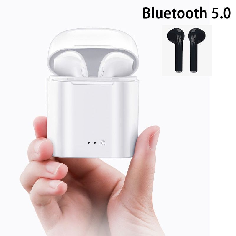 I7 Tws Bluetooth 5 0 Headphones Mini Wireless Earbuds For Iphone X Xr Xs Samsung S8 S9 Note 10 Plus Xiaomi Huawei Phone Wireless Earbuds Huawei Phones Earbuds