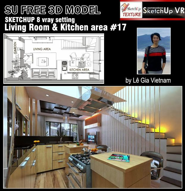 SKETCHUP TEXTURE: FREE SKETCHUP 3D MODEL LIVING AREA #17 ...