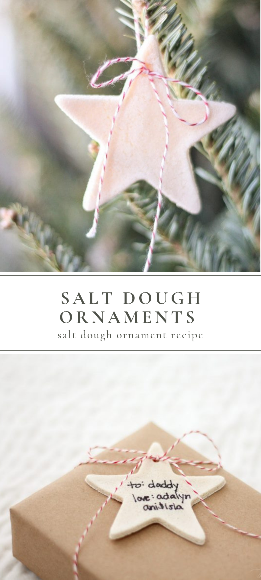 Salt Dough Ornaments (Salt Dough Ornament Recipe)