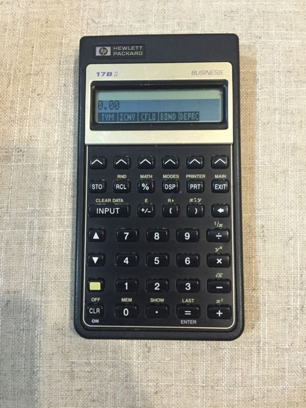 Vintage HEWLETT PACKARD HP 17B II Business Financial Calculator - financial calculator