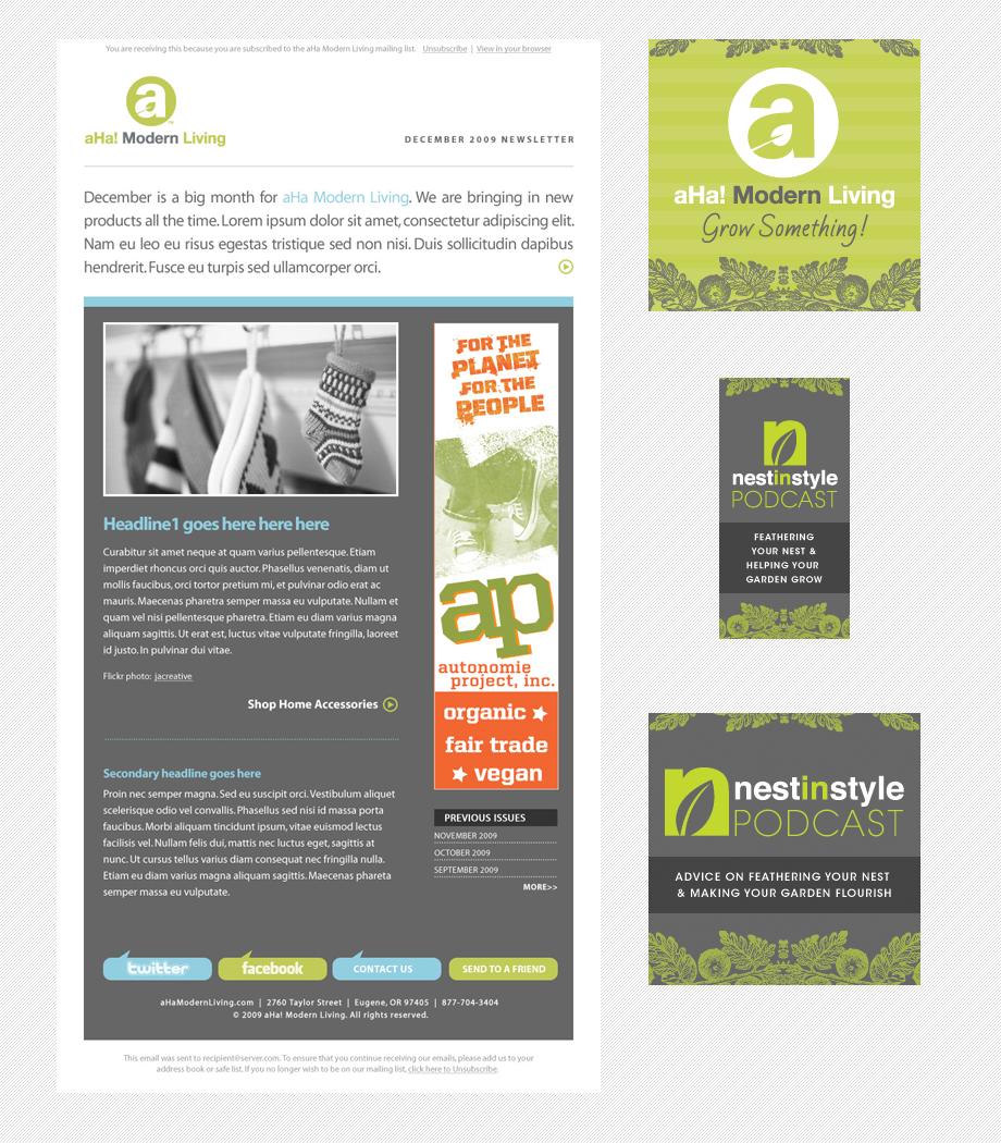 Ahamodernliving webother newsletter pinterest for Modern newsletter design