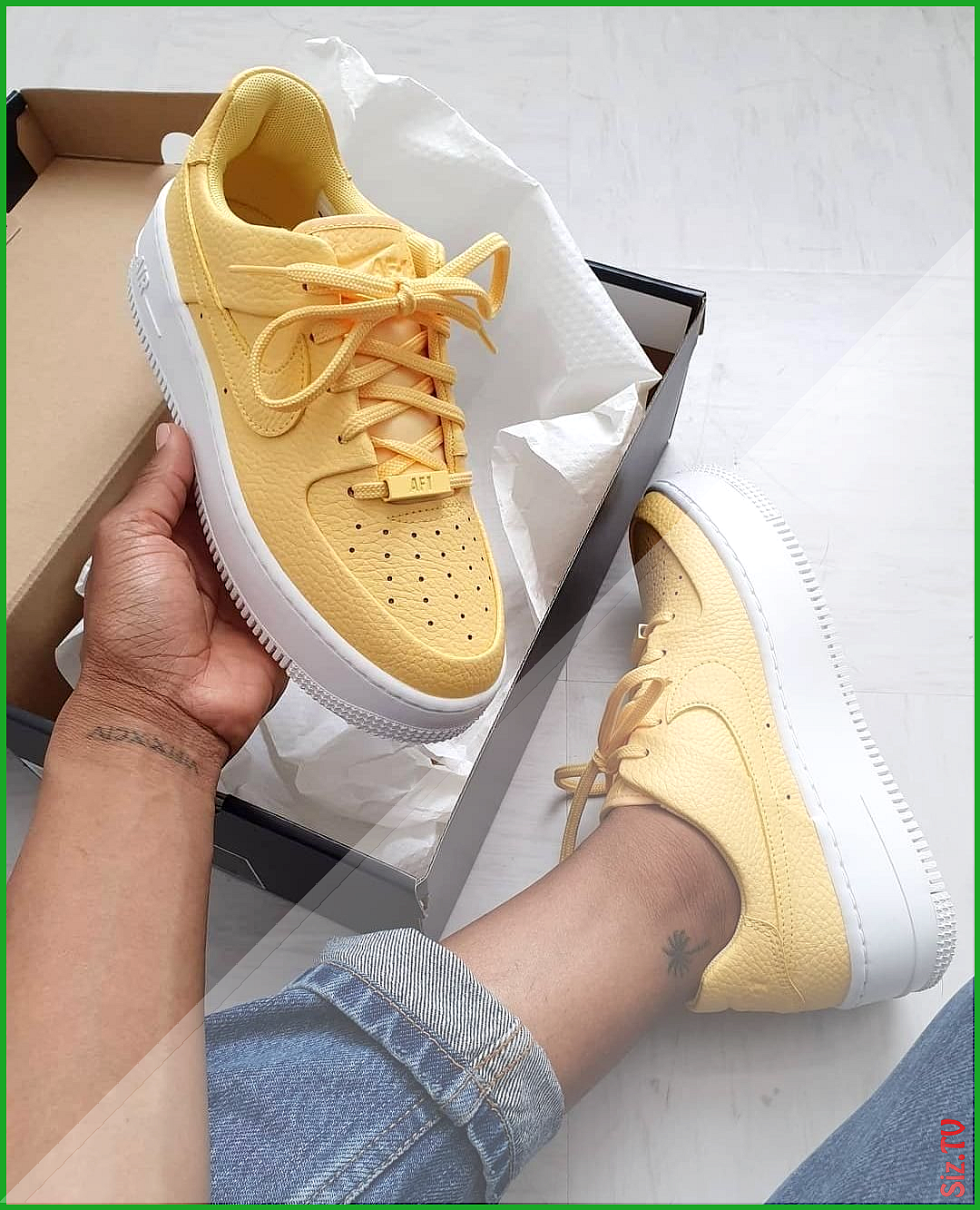 Nike Air Force 1 Sage Low In Gelb Ar5339 700 Nike Air Force 1 Sage Low In Gelb Ar5339 700 Everysize Everysize Nik Aesthetic Shoes Nice Shoes Sneakers Fashion