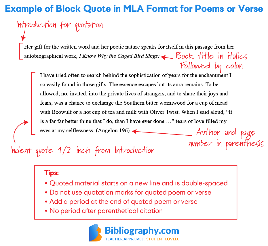 Creating Mla 8 In Text Citation Bibliography Com Format Block Quote How To Cite A From Website With No Author Apa