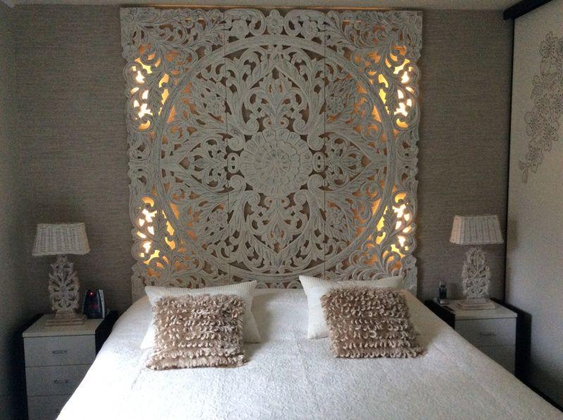 Wandpaneel 180x180cm pinar del rio wit 98434yw idee n voor het huis pinterest slaapkamer - Ontwerp bed hoofden ...