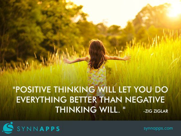 Stay positive. #Entrepreneur #Quotes #Synnapps