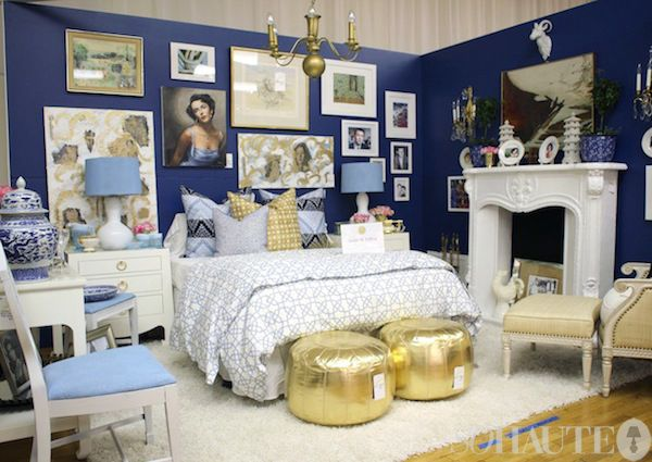 Design on a Dime 2011 Highlights--signer Daniel Pafford also had a standout vignette. His bedroom was an homage to Elizabeth Taylor.