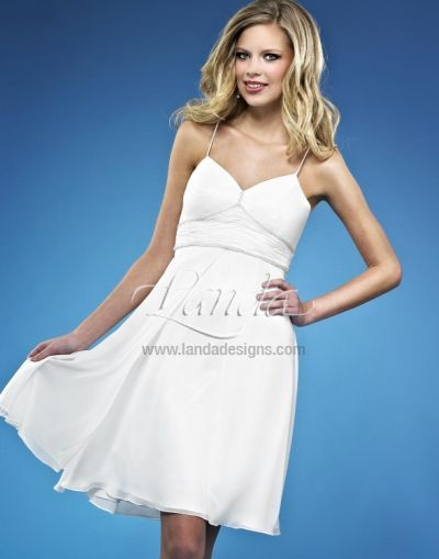 Short Beach Wedding Destination Bridal Dress DB205 by Landa at ...