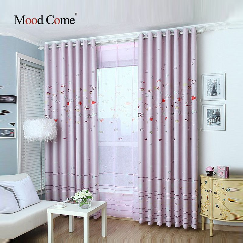 Blackout Shades Baby Room the underwater world children curtains baby room curtains for