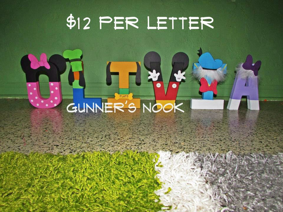 Mickey Mouse Clubhouse Character Letter Art by GunnersNook on Etsy - character letter