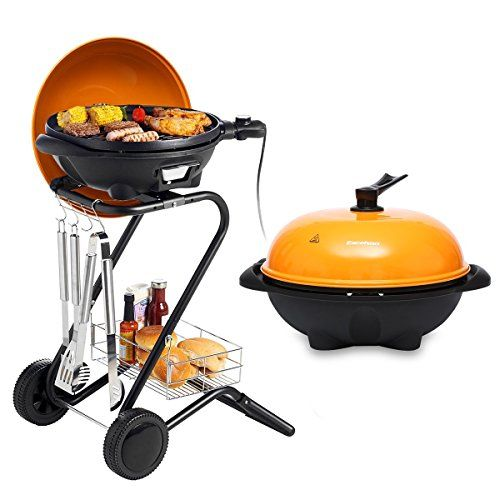 Excelvan Portable 1350w Electric Barbecue Grill With 5 Temperature Settings Ideal For Indoor And Outdoor Electric Bbq Electric Bbq Grill Outdoor Electric Grill