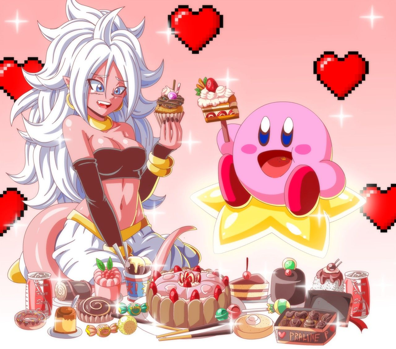 Majin Android 21 And Kirby Dragon Ball Super Art Dragon Ball