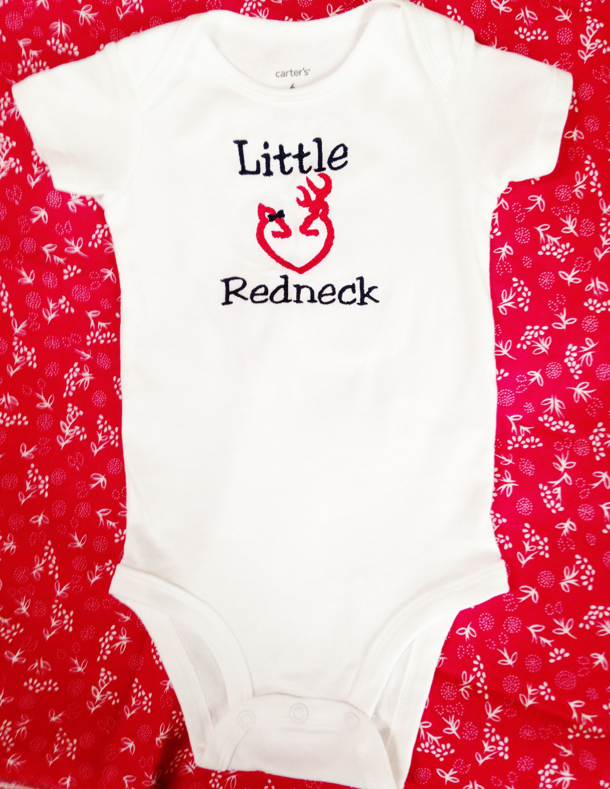 Little Redneck Country Girl esie or Shirt Embroidered by MawMaw