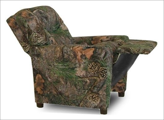 Kids Toddler Recliner Sofa Chair Seat Camouflage Camo Furniture