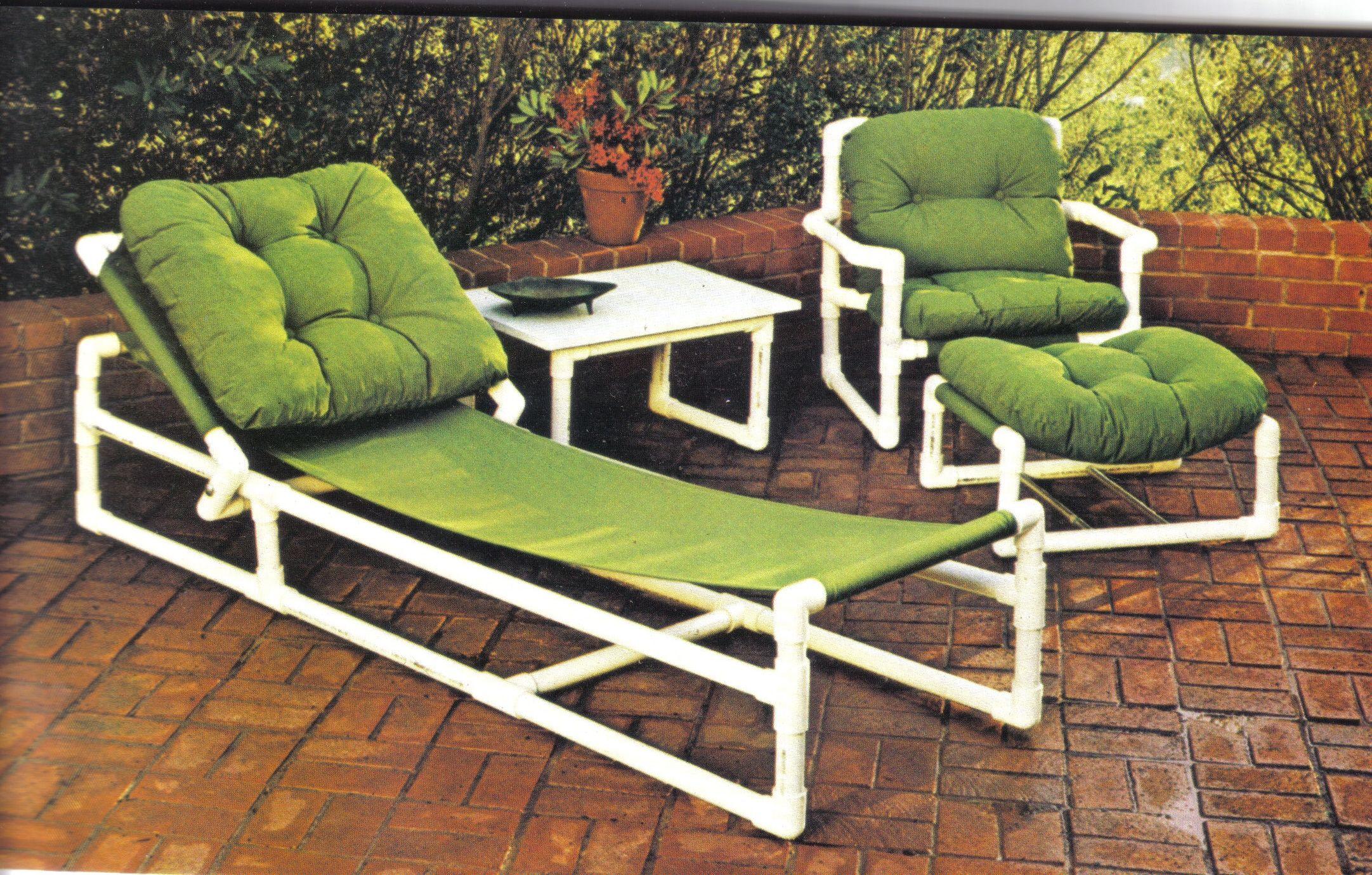 muebles de pvc para tu terraza f cil de hacer