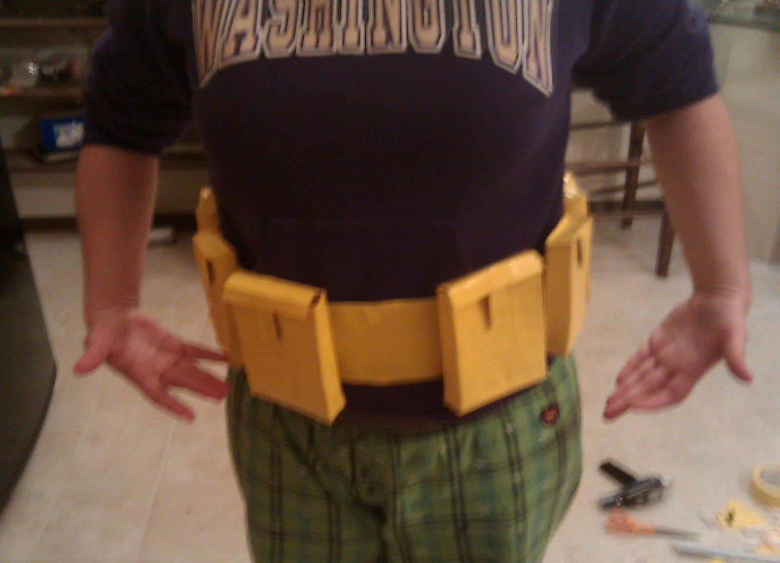 Pretty R How To Make Batman S Utility Belt Out Of Yellow Duct Tape