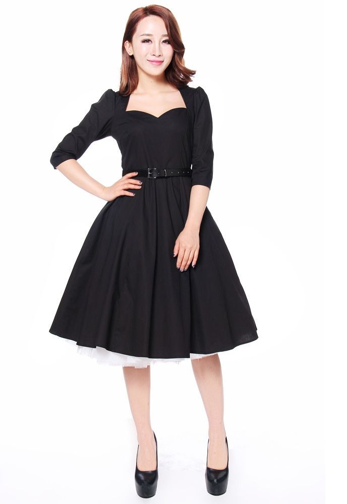 Pin Up Look Using A 50s Style Little Black Dress Smrithi