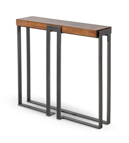 Beautiful Metal and Wood Entry Table