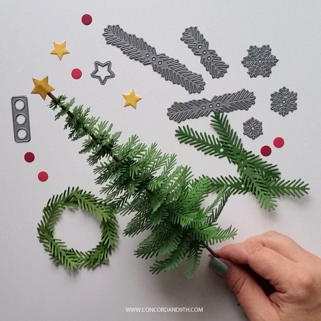 Take A Bough Die Scrapbook Paper Crafts Diy Diy Christmas Tree Scrapbook Paper Crafts
