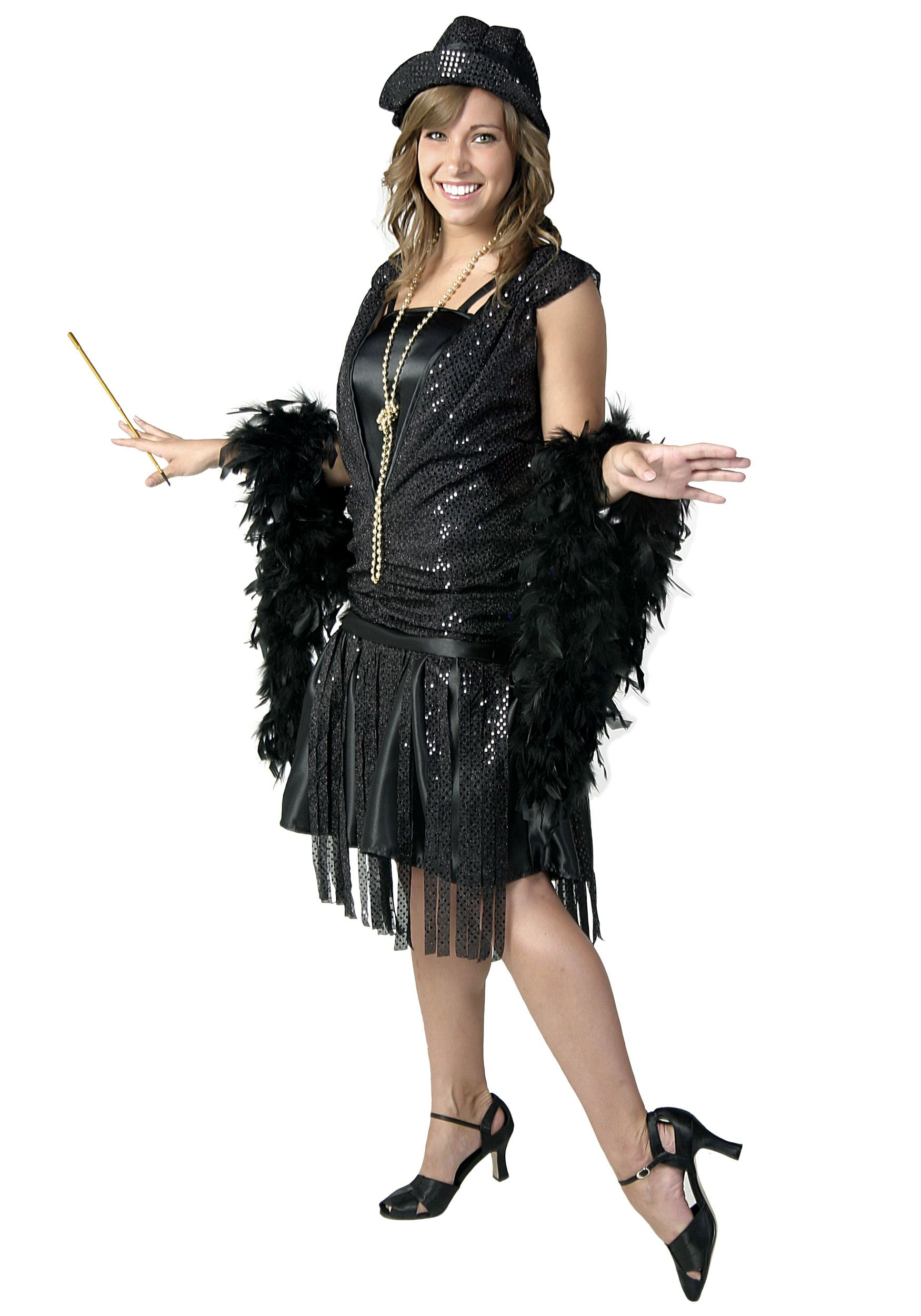 Our plus size black jazz flapper costume is a fantastic ...